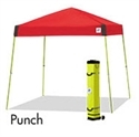 Picture of E-Z UP Vista Canopy Shelter 10' x 10' Red Top & White Steel Frame