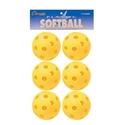 Picture of Champion Sports Plastic Softball Retail Pack Of 6 Yellow