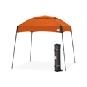 Picture of E-Z UP Dome Canopy Shelter 10' X 10' Steel Orange Top and Gray Frame