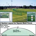Picture of Athletic Connection Portable Outfield Fencing - Fencing Only