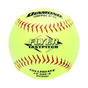 """Picture of Diamond Sports Softball NFHS Collegiate Red Stitch 12"""" Fast Pitch - Synthetic Cover"""