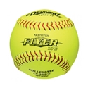 """Picture of Diamond Sports Softball NFHS Collegiate Red Stitch 12"""" Fast Pitch - Polyurethane Core"""
