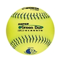 """Picture of Worth™ WorthT Super Green Dot 11 """" Slow-Pitch Softballs"""