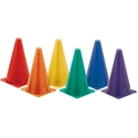 """Picture of Champion Sports Hi Visibility Fluorescent 9"""" Poly Cone Set"""