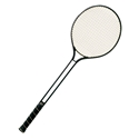 Picture of Champion Sports Aluminum Double Shaft Badminton Racket with Nylon Coated Steel Strings