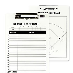 "Picture of Champro 9"" x 12"" Baseball/Softball Coach's Board"