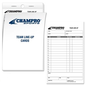 Picture of Champro Line Up Cards
