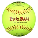 Picture of Trump® MP-EVIL-ASA-11-Y Evil Sports 11 Inch Red Stitch Yellow Premium Leather ASA Softball