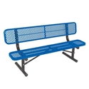 Picture of Ultracoat Thermoplast Coated Benches with Back Support