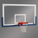 "Picture of Draper 72"" x 42"" Rectangular Glass Backboard"