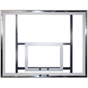 """Picture of PW Athletic 42"""" X 54"""" Polycarbonate Rectangle Backboard with White Target and Perimeter"""