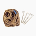 """Picture of PW Volleyball Boundry Markers - 1-1/4"""" Rope with #8372 Stakes 8369"""