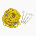 """Picture of PW Volleyball Boundry Markers - 3/4"""" Rope with #8372 Stakes 8370"""