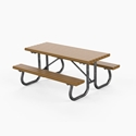 "Picture of PW Athletic 3"" X 4"" Recycled Plastic Picnic Table"