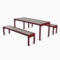 Picture of PW Athletic DuPont Circle Series Table & Benches