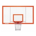 "Picture of Porter 6' Extension Vertical Post 72"" x 42"" Steel Backboard Systems"