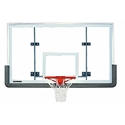 "Picture of Porter 6' Extension Vertical Post 72"" x 42"" Glass Backboard Systems"