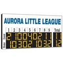 Picture of BSN 8' X 4' Hanging Scoreboard Sponsor Panel Lettering