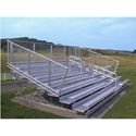 Picture of NRS 8 Row Deluxe Bleachers - Aluminum Frames