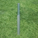 """Picture of Fold-A-Goal Semi-Permanent 4"""" Round Aluminum Soccer Goal Ground Sleeves"""
