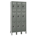 Picture of Hallowell Ready-Built Stock Triple Tier 3-Wide Lockers