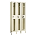 Picture of Hallowell Safety-View Stock Single Tier 3-Wide Lockers