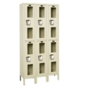 Picture of Hallowell Safety-View Stock Double Tier 3-Wide Lockers