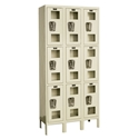 Picture of Hallowell Safety-View Stock Triple Tier 3-Wide Lockers