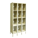 Picture of Hallowell Safety-View Plus Stock Four Tier 3-Wide Lockers