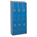 Picture of Hallowell Ready-Built II Stock Double Tier 3-Wide Lockers