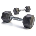 Picture of Champion Barbell Rubber Encased Solid Hex Dumbbells