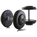 Picture of USA Sports Black Iron Pro Dumbells with Rubber End Cap