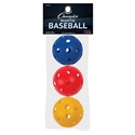 Picture of Champion Sports Plastic Baseball Retail Pack Of 3 Assorted Colors