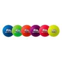 Picture of Champion Sports 6 Inch Rhino Skin Neon Rainbow Dodgeball Set