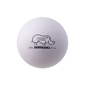 Picture of Champion Sports 6 Inch Rhino Skin Low Bounce Dodgeball White