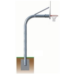 """Picture of Gared 5-9/16"""" Gooseneck Basketball Post"""