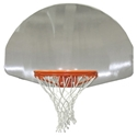 "Picture of Gared® 36½"" x 54"" Brushed Aluminum Fan-Shape Backboard"