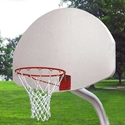 """Picture of Gared® 3-1/2"""" Economy Outdoor Gooseneck Basketball Package"""